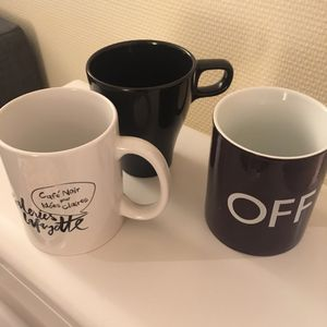 Lot de mugs