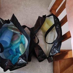 Donne 2 sac de pot de conservation bébé