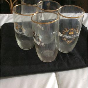 5 verres Kronenbourg
