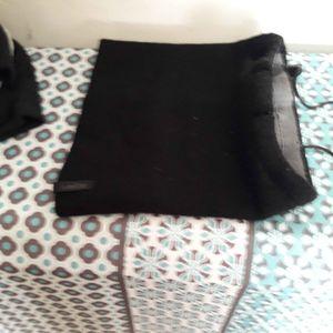 Snood noir et gris reversible 12/14 ans