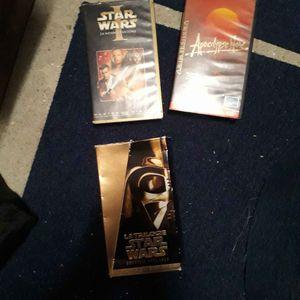 Cassettes trilogie star gars et 1 autre