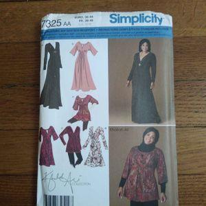 Patronnages robes et tunique Simplicity 7325