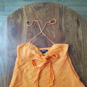 Debardeur orange taille S