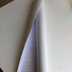Papier adhesif blanc