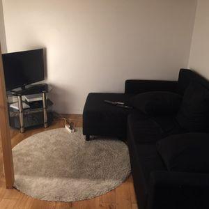 Canapé transformable noir