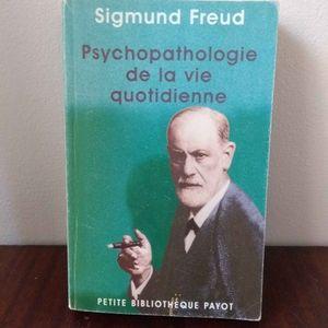 Psychopathologie de la vie quotidienne de Freud