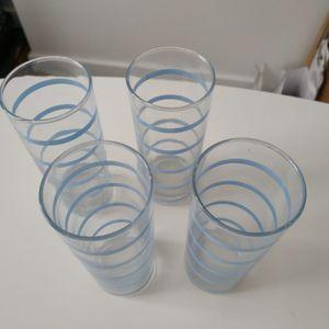 4 verres hauts