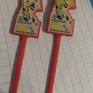 2 touillettes Coupe du monde 94