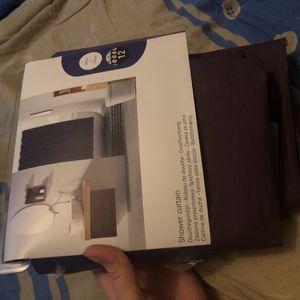 Rideau de douche violet