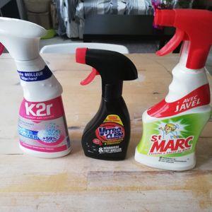 Fin 3 produits ménager