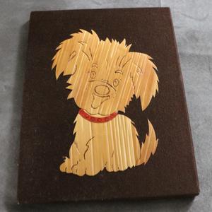 Cadre mural chien