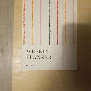 Weekly planner Mylittlebox