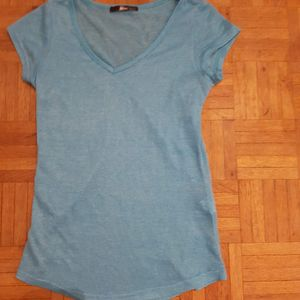 tee shirt turquoise taille S