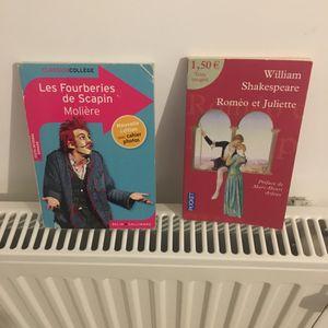 Livres Molière et Shakespear