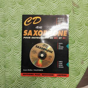CD et livre saxophone