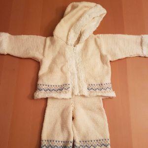 ensemble tricoté main 18 mois