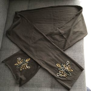 Écharpe noire fine