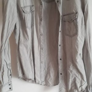 Chemise jean beige taille 38