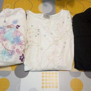 Vestes et tee-shirt taille M