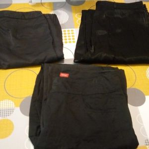 3 pantalons noirs