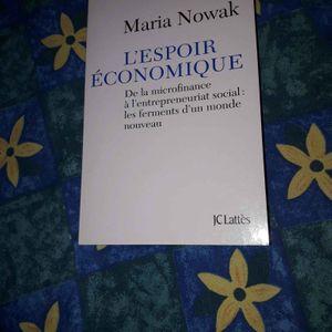 Livre Maria Novak L'espoir économique
