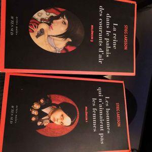 Deux livres série Millenium
