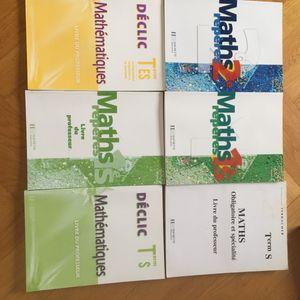 Lot Manuel de mathématiques lycée + livres du prof