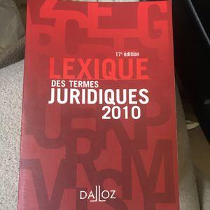 Lexique Termes Juridiques 2010