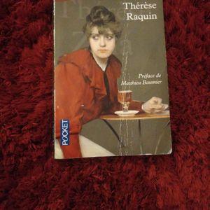 Livre Thérèse Raquin de Zola