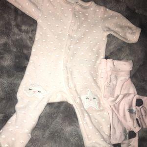 Pyjamas fille rose poudres