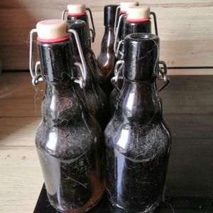 Lot 7 bouteille 33cl verre bouchon