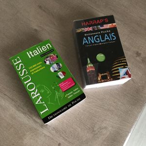 Dictionnaires de poche anglais et italien