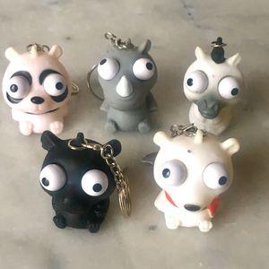Lot de figurines porte-clés antistress