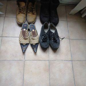 4 paires de chaussures de montagne, baskets fourrés