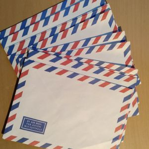 "Lot d'enveloppes ""avion"""