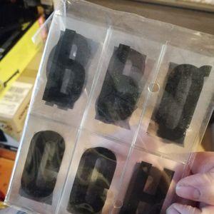 Chiffre et lettres transparent