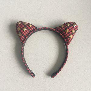 Serre tête oreilles chat rouge