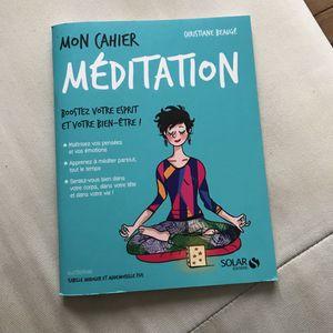 Carnet de méditation à remplir
