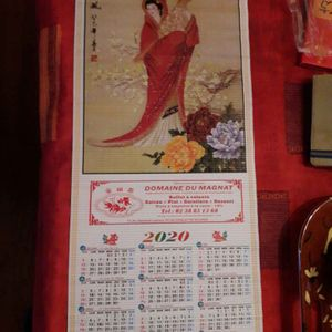 Calendrier chinois 2020.