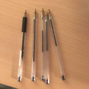 Lot stylos bille noirs
