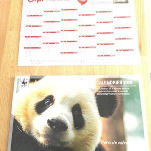 Calendrier 2020 WWF + Orpi