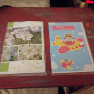 Cartes de voeux et enveloppes