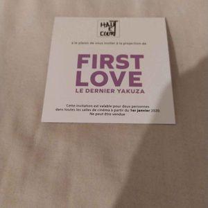 Place de cinéma pour le film first love le dernier yakuza