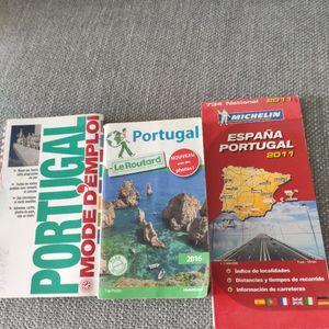 2 Livres sur le Portugal ainsi que carte