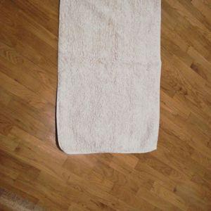 Tapis 50 sur 80 cm blanc