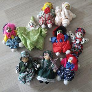 Lot petits clowns