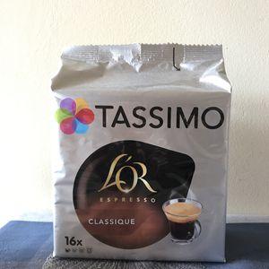 Cafe pour machine expresso tassimo or