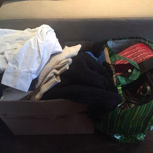 Carton + poche de vêtements homme/femme