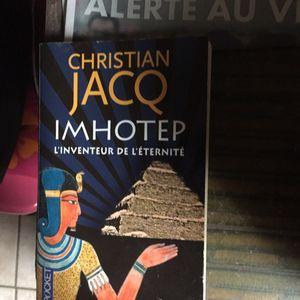 LIVRE IMHOTEP de Christian JACQ (Auteur TOP👍🏽)