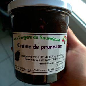 Crème de pruneaux produit régional d'agen
